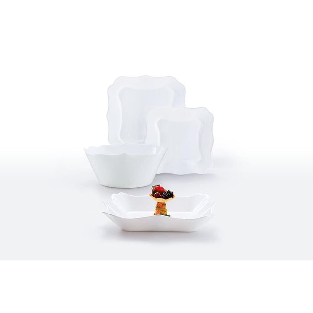 Luminarc Authentic 19 részes fehér étkészlet