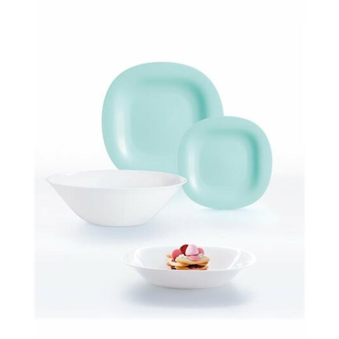 Luminarc Carine Turquoise&White 19 részes étkészlet