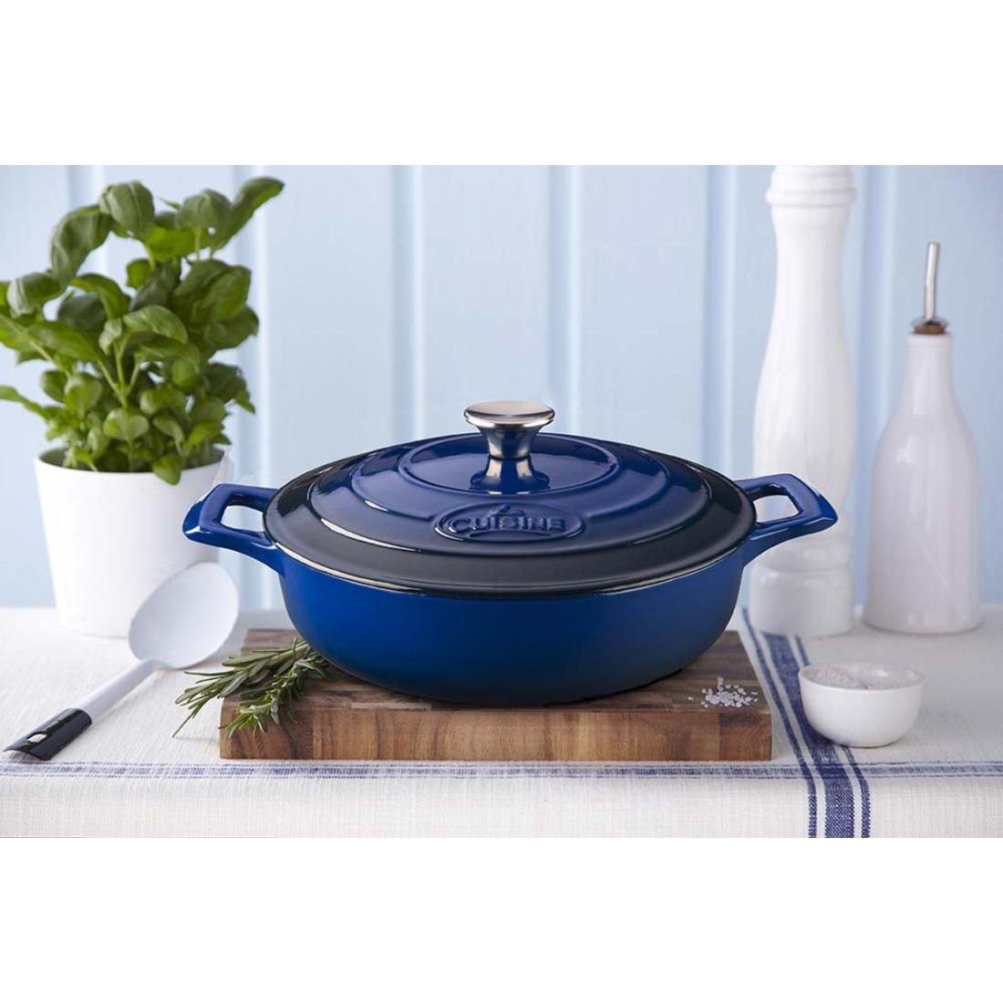 La Cuisine Blue öntöttvas lábas-sütőtál  28 cm