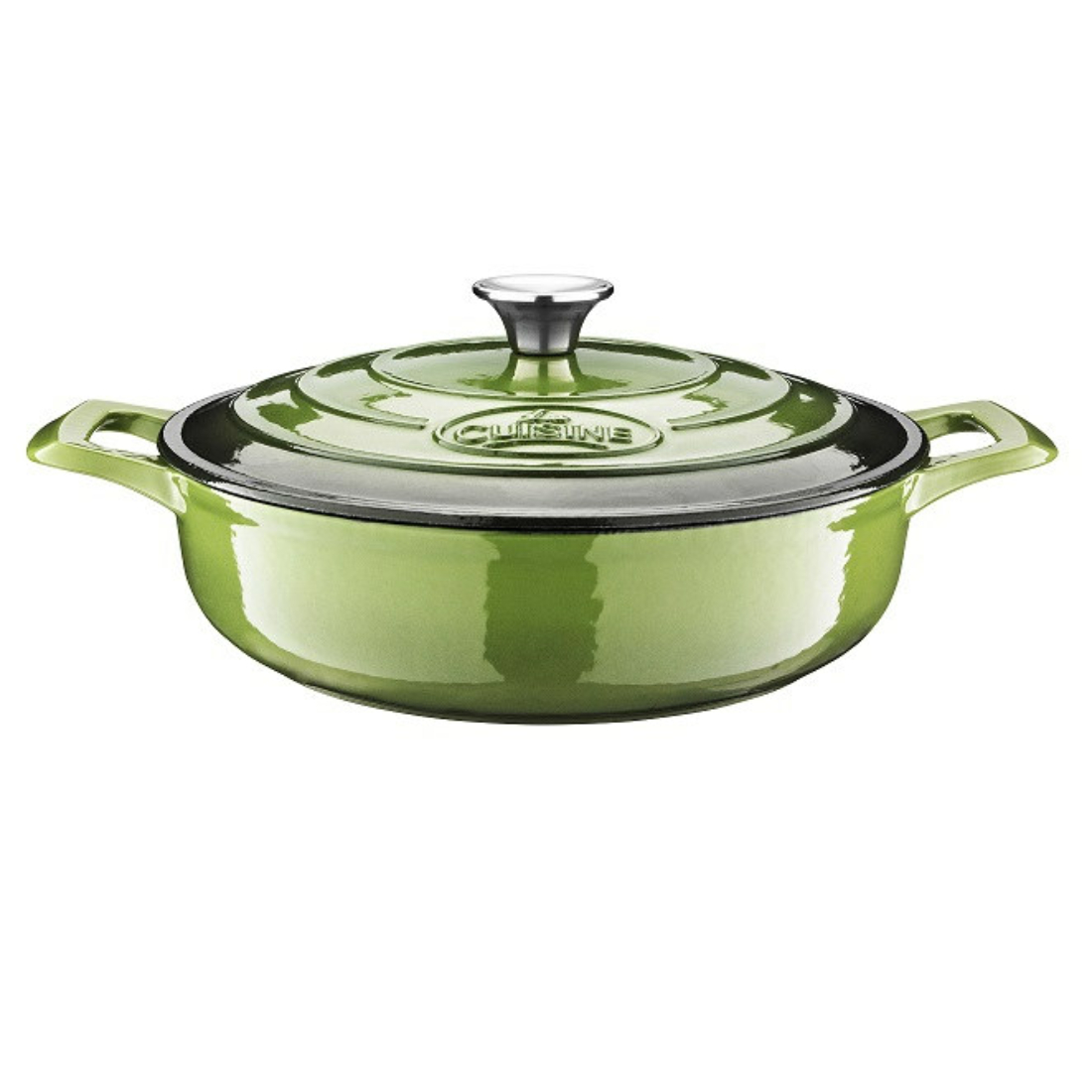 La Cuisine Green öntöttvas kerek sütőtál 28cm