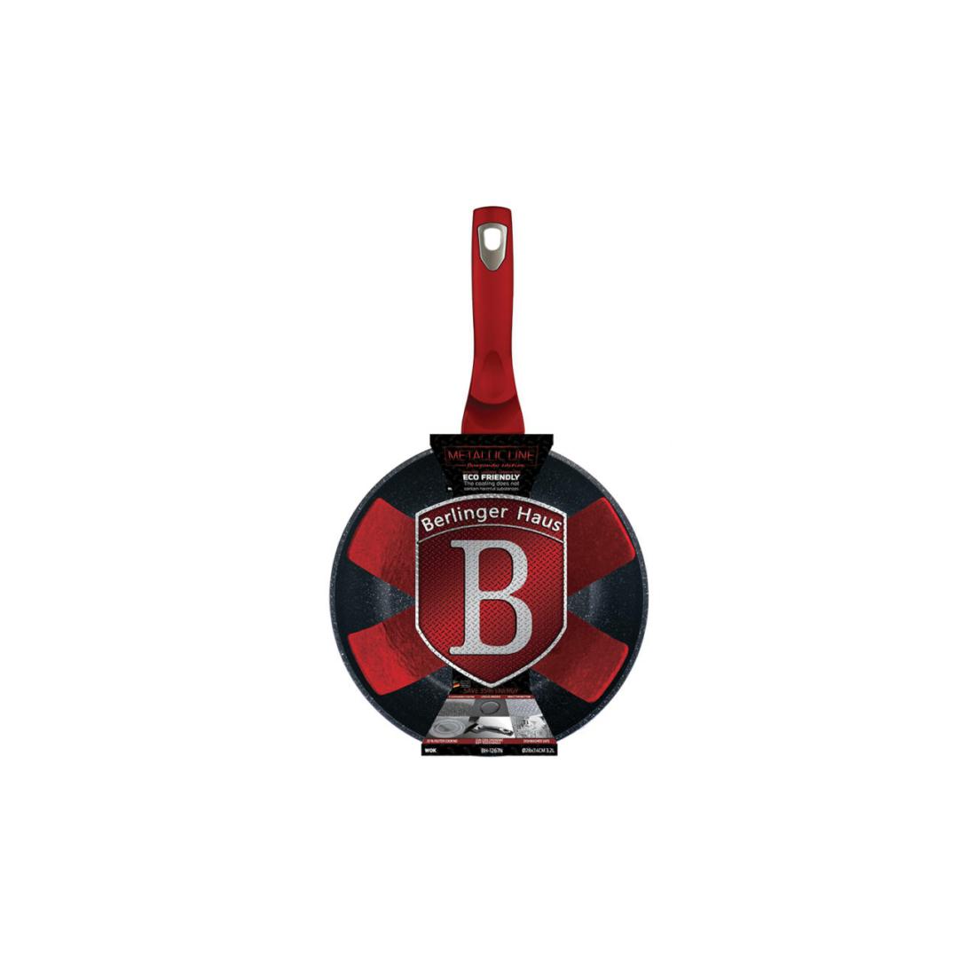 Berlinger Haus Wok Burgundy Metallic Line serpenyő 28 cm