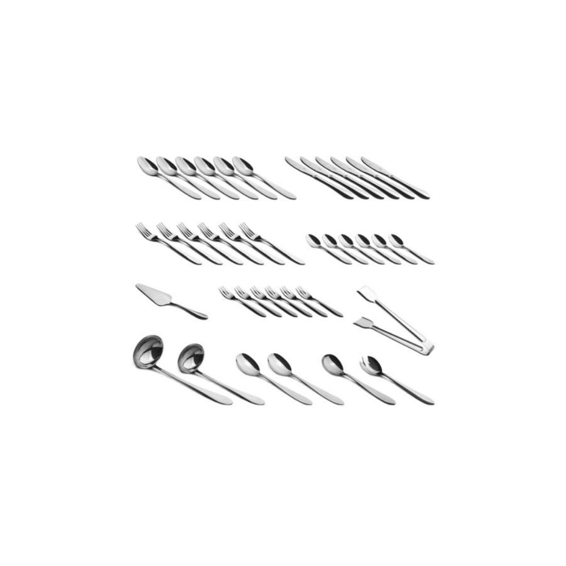 Berlinger Haus 38 részes rozsdamentes acél evőeszköz készlet, kerekített, tükörfényes
