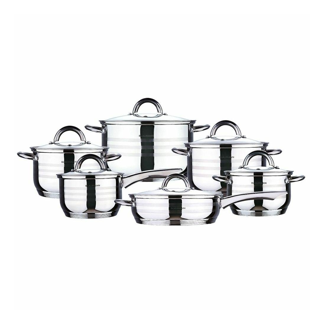 Blaumann rozsdamentes acél edény szett 12 db Gourmet Line