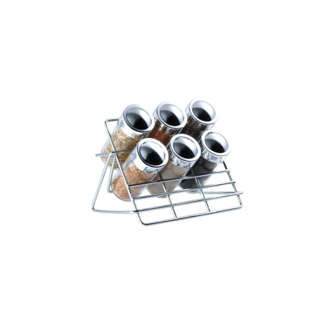 Blaumann 7 részes krómozott asztali fűszertartó állvánnyal