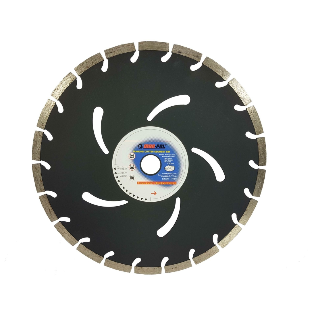 Mar-Pol Szegmentált gyémánt vágótárcsa 350mm