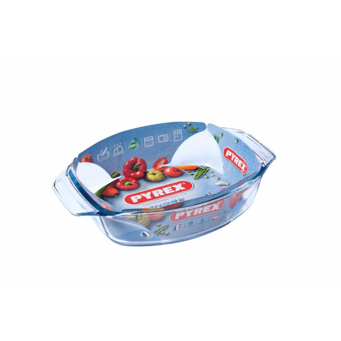 Pyrex Irrestistible Ovális Kacsasütő - tepsi - sütőtál 30cm