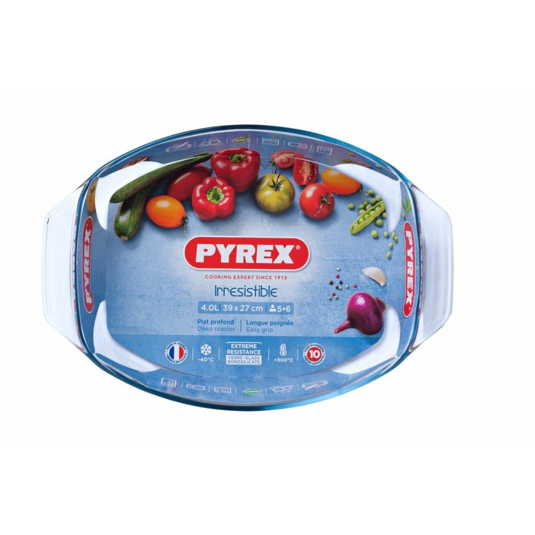 Pyrex Irrestistible Ovális Kacsasütő - tepsi - sütőtál 39cm