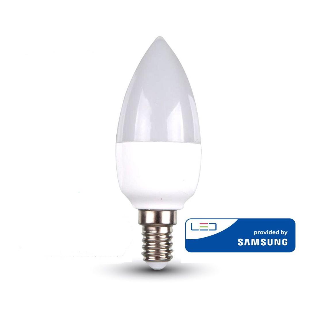 V-TAC LED LÁMPA E14 4W GYERTYA 4500K 10 darabos pakk