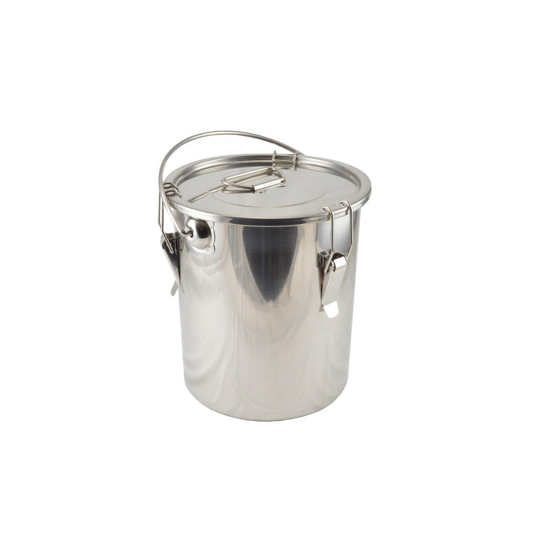 Rozsdamentes ételhordó badella csatos 25 liter