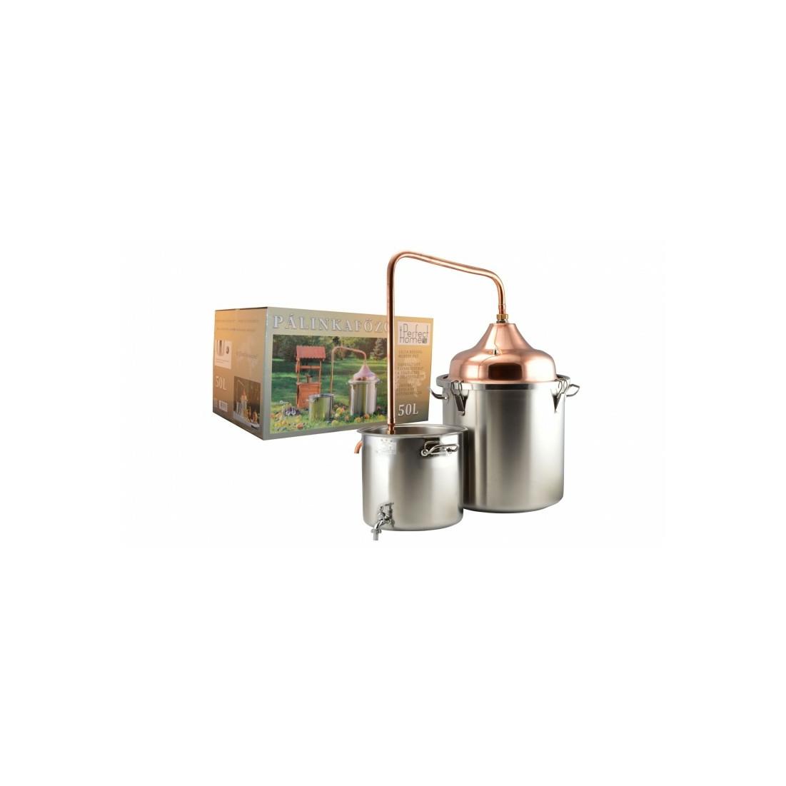 Pálinkafőző inox 50 liter