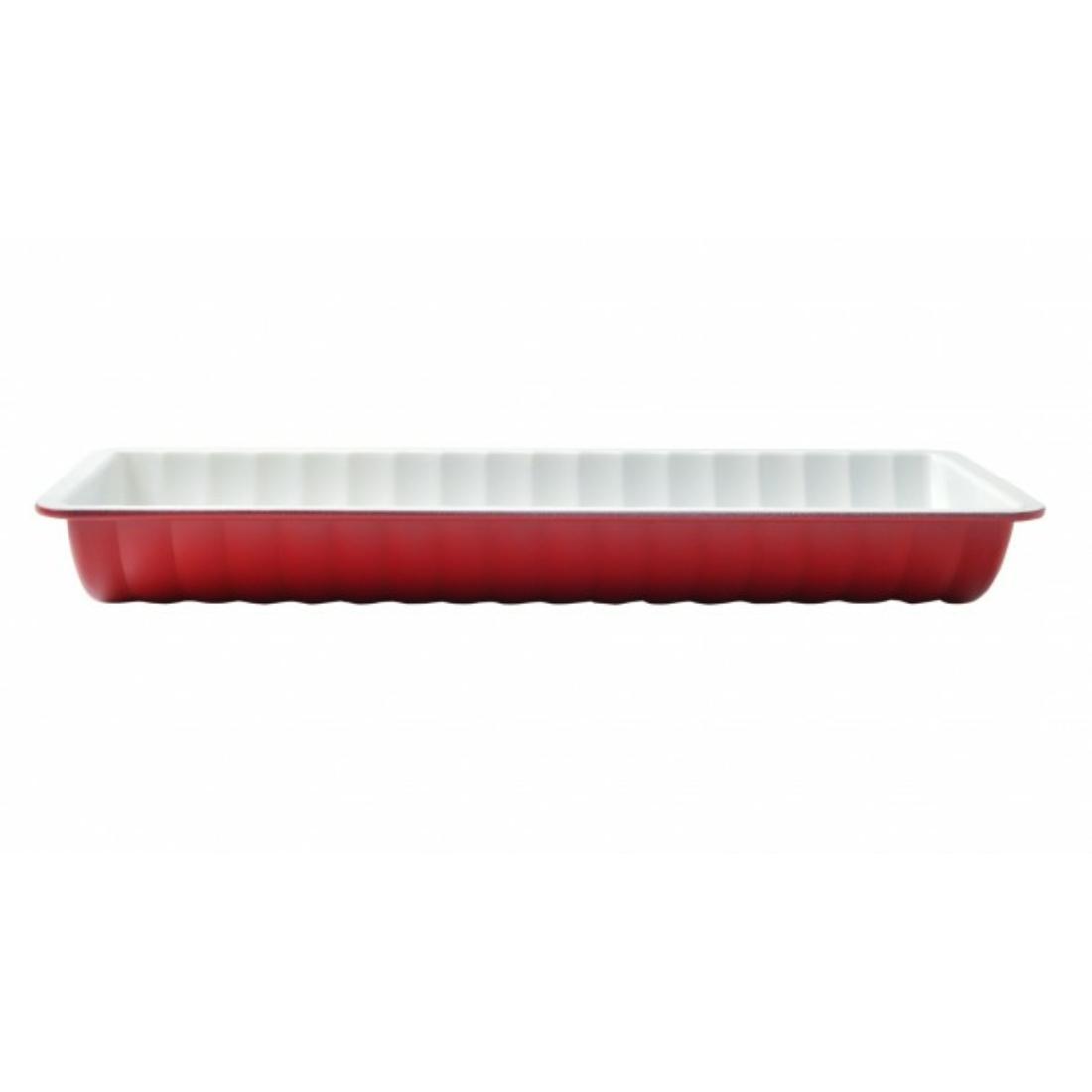 Őzgerinc forma kerámia bevonattal Piros
