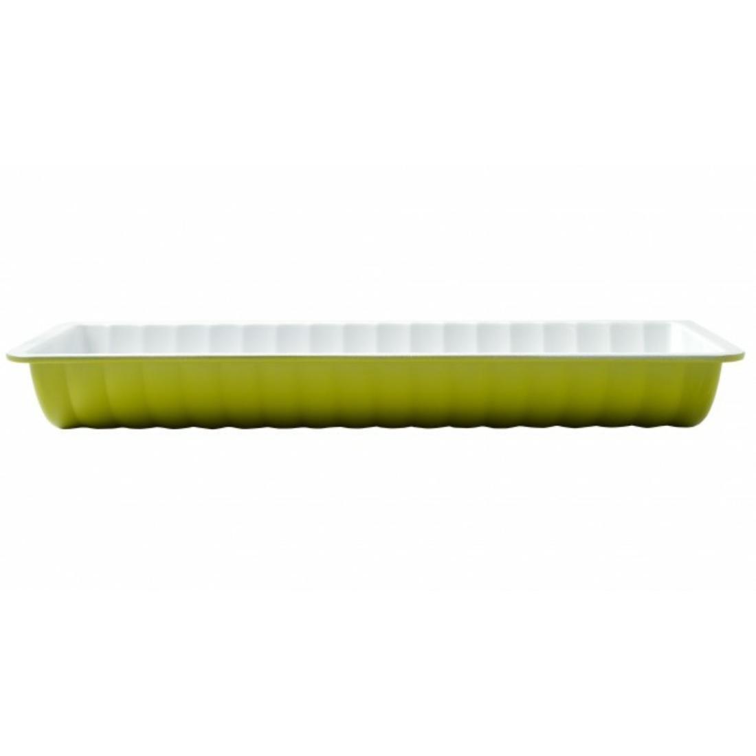 Őzgerinc forma kerámia bevonattal Zöld