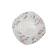 Homefavour Szögletes Lila Virágos 18 Részes Porcelán Étkészlet