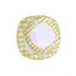 Homefavour Szögletes Sárga Zöld Pepita 18 Részes Porcelán Étkészlet