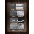 Berlinger Haus Forest Line Dark Grey 10 részes edénykészlet kő hatású márvány bevonattal, szürke fa mintázatú nyéllel