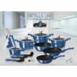 Berlinger Haus Metallic Line Royal Blue Edition 10 részes edénykészlet márvány bevonattal, metál külső bevonattal, királykék