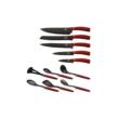 Berlinger Haus Metallic Line 12 részes konyhai készlet késekkel és kiszedőkkel, burgundy metál