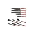 Berlinger Haus I-Rose Collection 12 részes konyhai készlet késekkel és kiszedőkkel, pink metál
