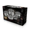 Blaumann Gourmet Line 13 részes rozsdamentes acél edénykészlet, szatén, fekete színű fogókkal