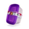 Műanyag ételtároló doboz szett 3 x 1,25L