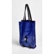 Összecsukható gurulós bevásárlótáska - kék