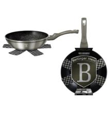 Berlinger Haus Metallic Carbon Line wok márvány bevonattal, metál külső bevonattal, 28 cm