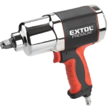 """Extol Premium légkulcs, 1/2"""", 680Nm, erős, 3 fokozatú (Twin Hammer), 7500 1/min, 142l/min, 6,3 Bar, 1/4"""" tömlőcsatlakozó, 2,1kg"""