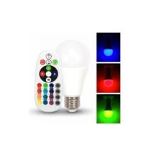 V-TAC LED E27 6W A60 RGB+dw infra távirányítóval 4000K - 7150