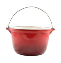 Zománcozott öntöttvas bogrács 5 literes piros