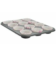 Muffinsütő tapadásmentes bevonattal 12 db-hoz