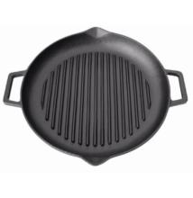 Öntöttvas grill lap kerek csőrös 31cm