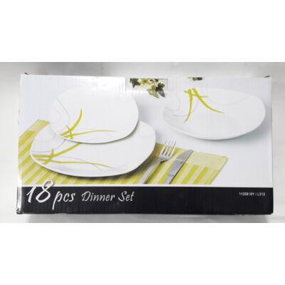 Homefavour Bambus 18 részes porcelán étkészlet