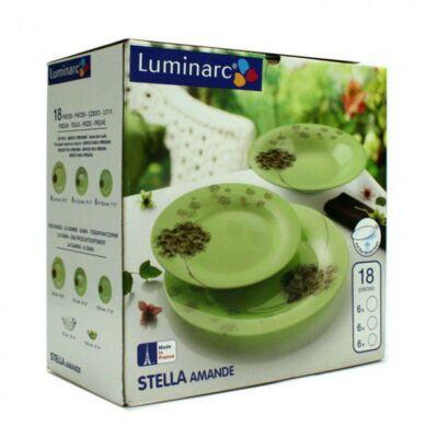 Luminarc Stella Amande étkészlet, 18 részes