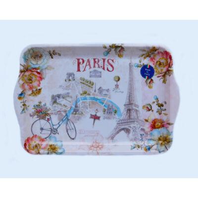 Tálca Párizs mintával 47x32 cm