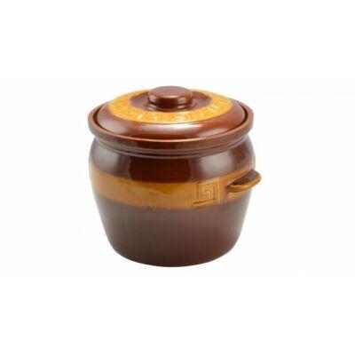 Agyag káposztás fazék mázas 6.5 literes