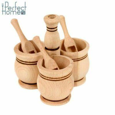Fa fűszertartó 3 részes
