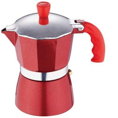 Kávéfőző 3 személyes piros