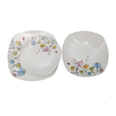 HomeFavour  Katicás, Virágos 18 részes porcelán étkészlet
