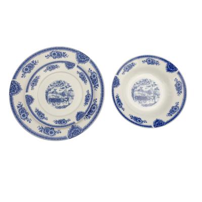 HomeFavour Kék mintás 18 részes porcelán étkészlet