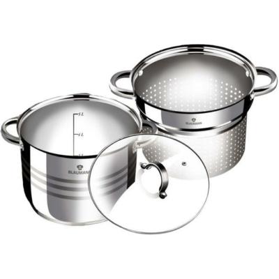 Blaumann Gourmet Line 3 részes rozsdamentes acél, tészta és levesfőző készlet