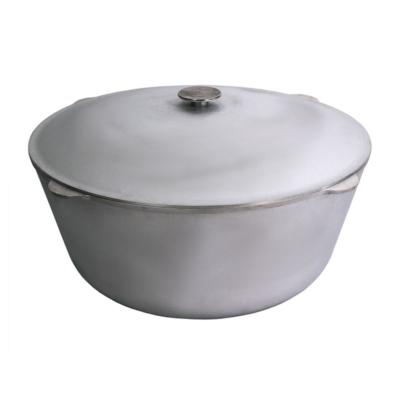 Tatárbogrács öntöttvas 40 literes alumínium fedővel