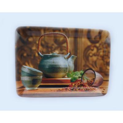 Tálca teás mintával 45x31,5 cm