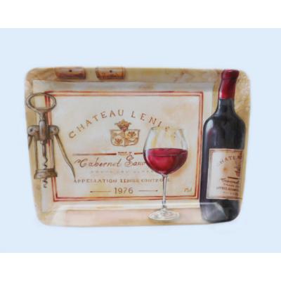 Tálca boros mintával 45x31,5 cm