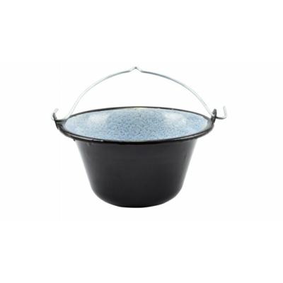 Zománc tálaló bogrács 0,8 liter fekete