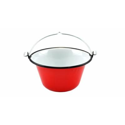 Zománc tálaló bogrács 0,8 liter piros