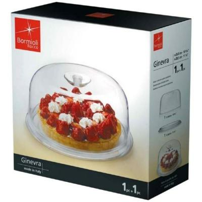 Bormioli Rocco GINEVRA tortatál+műanyag búra, 29 cm