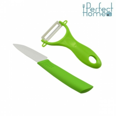 Kerámia hámozó+kés Zöld