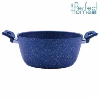 Granito blue lábas kék márványos 24 cm