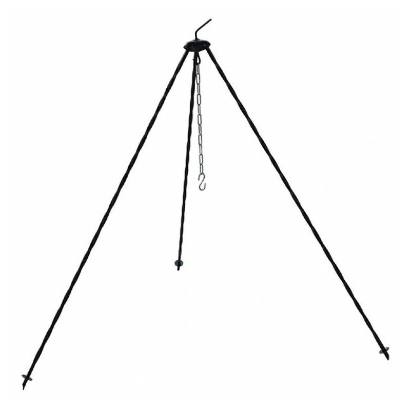 Rozsdamentes bogrács szett 1.2 méteres állvánnyal